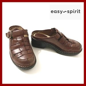 Easy spirit Clogs Slip on Leather Shoes
